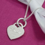 Love Heart Pendant Silver, personalised engraved ref. SLHP